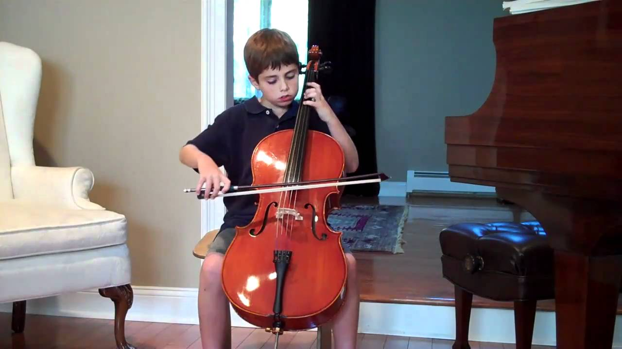 Boy playing 'cello